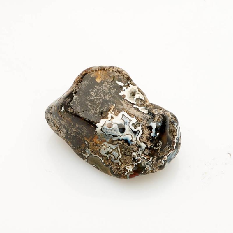 Галтовка агат черный Россия (2,5-3 см) 1 шт