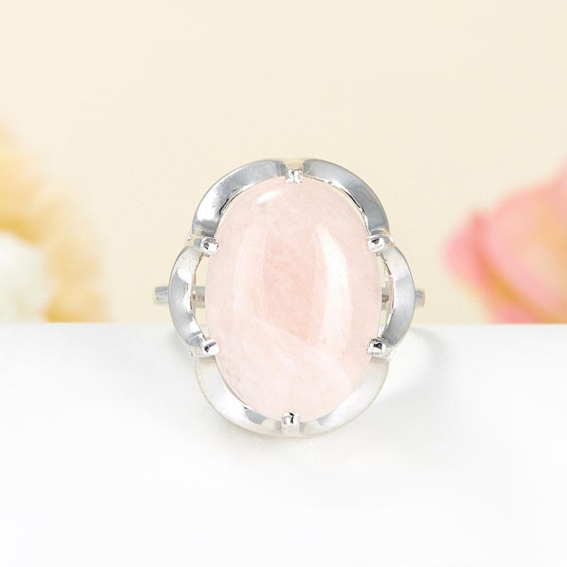 Кольцо берилл морганит Бразилия (серебро 925 пр.) размер 22,5