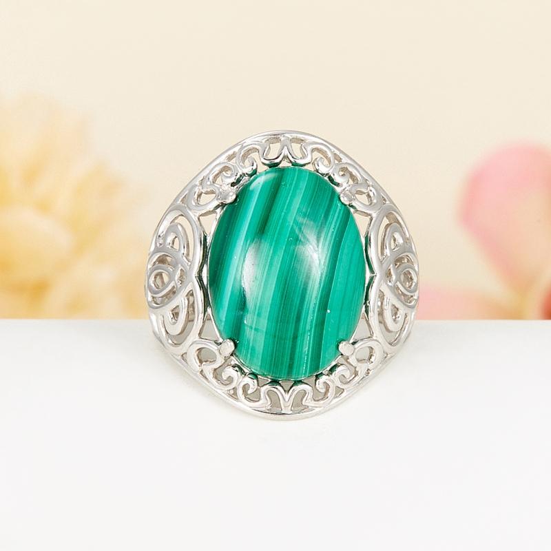 Кольцо малахит (серебро 925 пр.) размер 17,5 кольцо oem 925 925 smtr133 ring