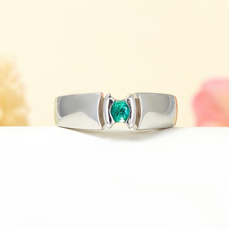 Кольцо изумруд  огранка (серебро 925 пр.) размер 18,5