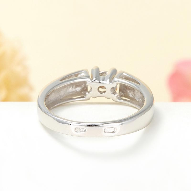 Кольцо бриллиант Россия огранка (серебро 925 пр.) размер 15