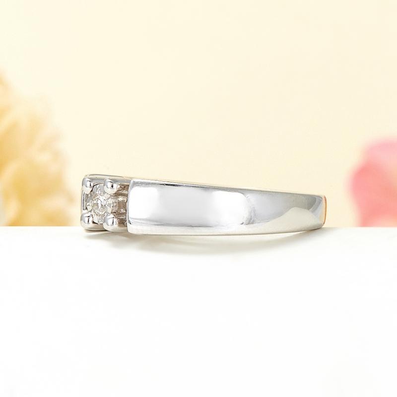 Кольцо бриллиант Россия огранка (серебро 925 пр.) размер 17,5