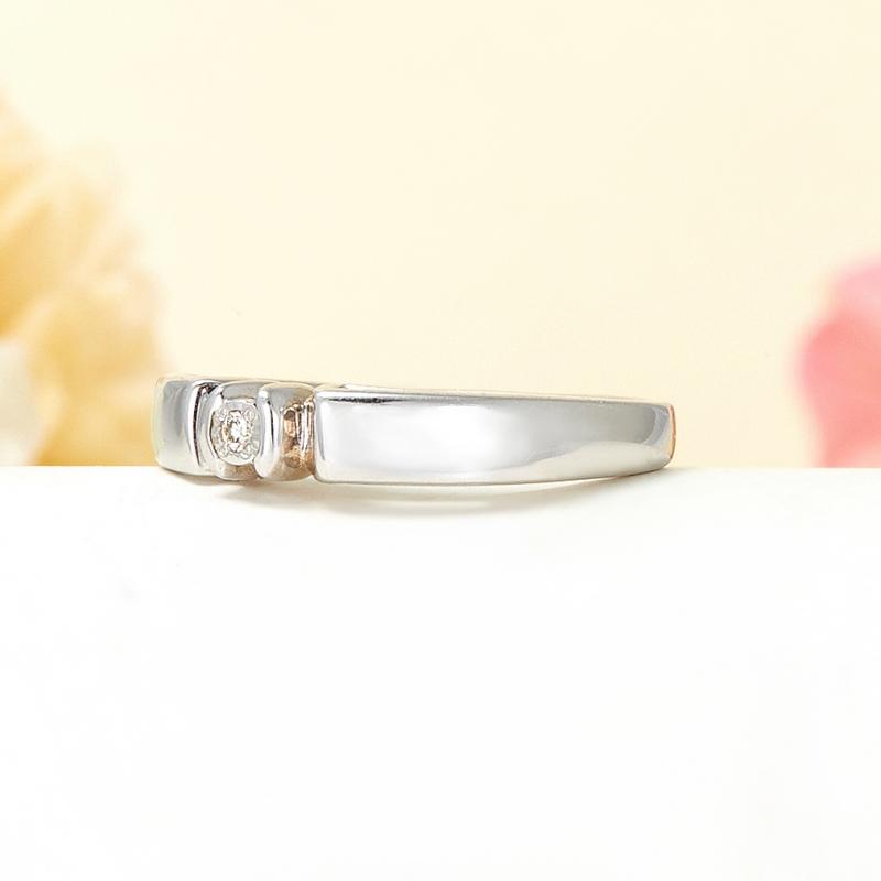 Кольцо бриллиант Россия огранка (серебро 925 пр.) размер 15,5