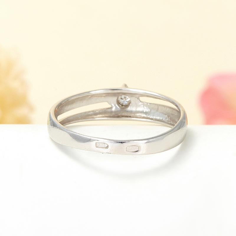 Кольцо бриллиант Россия огранка (серебро 925 пр.) размер 18