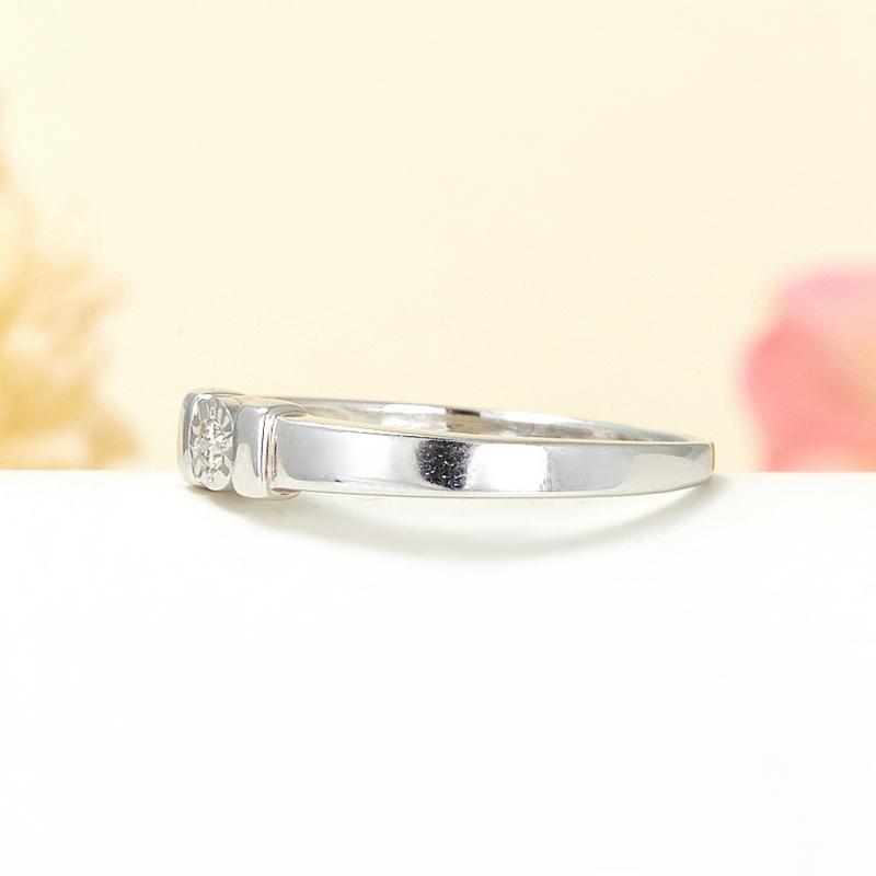 Кольцо бриллиант Россия огранка (серебро 925 пр.) размер 14
