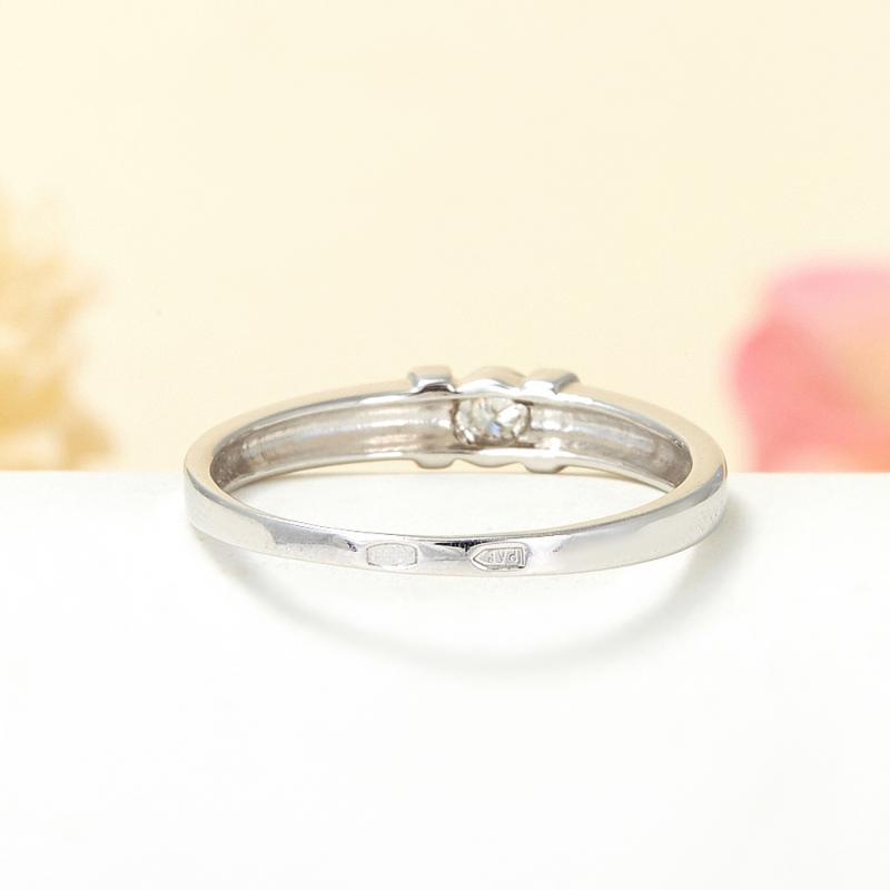 Кольцо бриллиант Россия огранка (серебро 925 пр.) размер 17