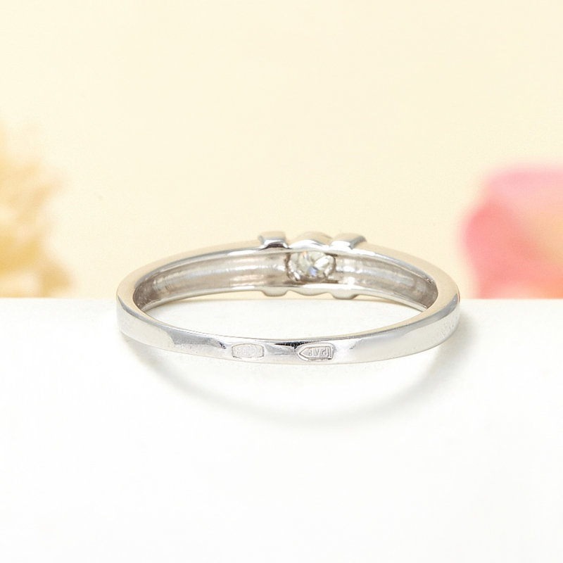 Кольцо бриллиант Россия огранка (серебро 925 пр.) размер 24,5