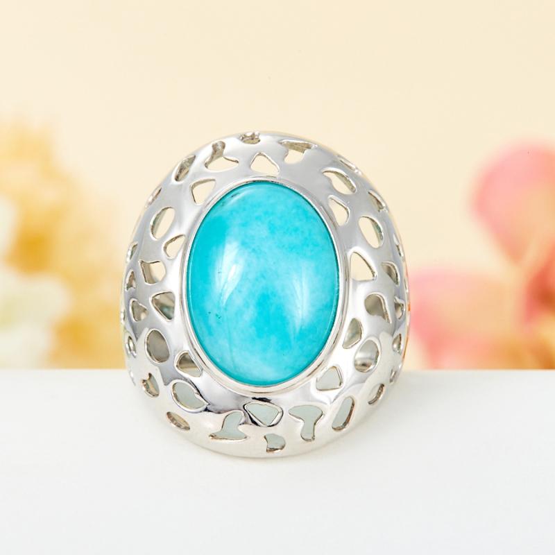 Кольцо амазонит (серебро 925 пр.) размер 18 кольцо амазонит серебро 925 пр размер 19