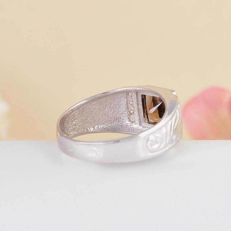 Кольцо раухтопаз Бразилия огранка (серебро 925 пр.) размер 19,5