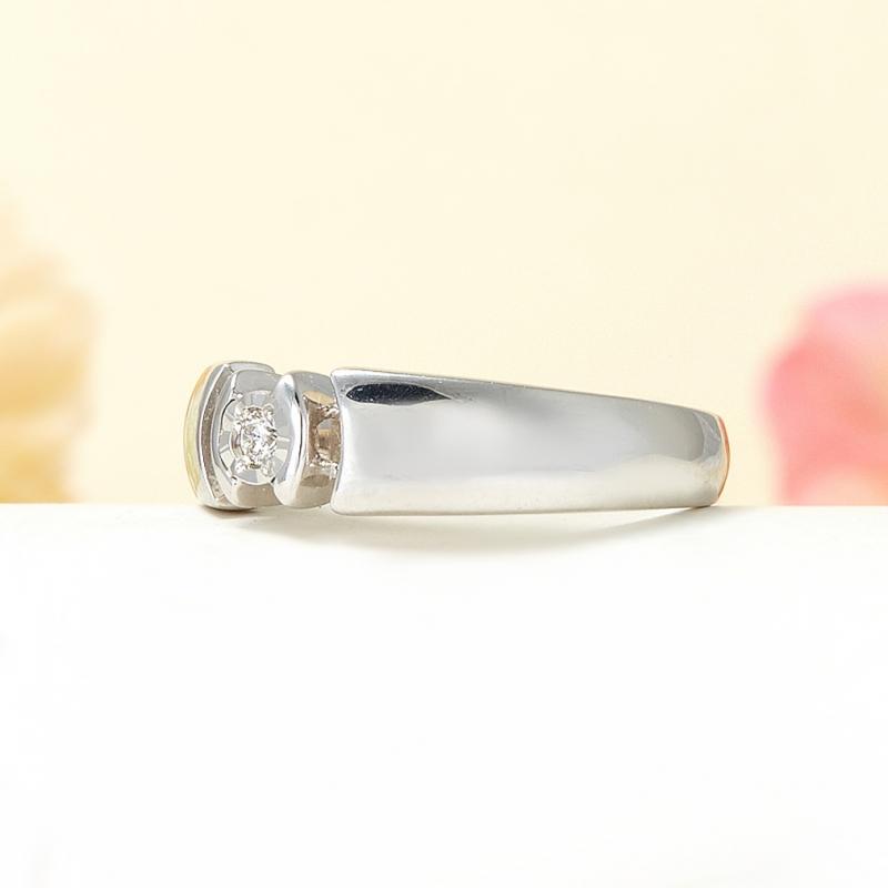 Кольцо бриллиант Россия огранка (серебро 925 пр.) размер 21,5