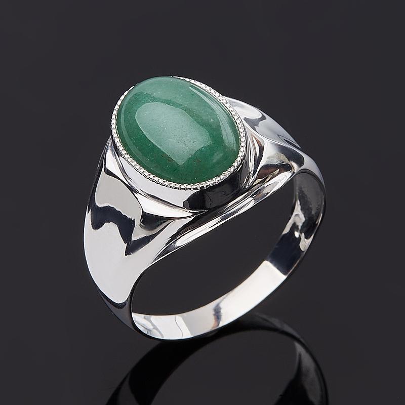 Кольцо авантюрин зеленый (серебро 925 пр.) размер 23