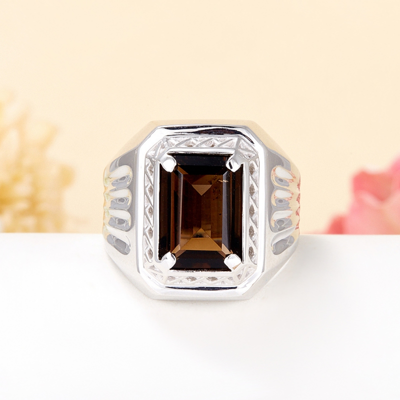 Кольцо раухтопаз  огранка (серебро 925 пр.) размер 23 кольцо авантюрин зеленый серебро 925 пр размер 23
