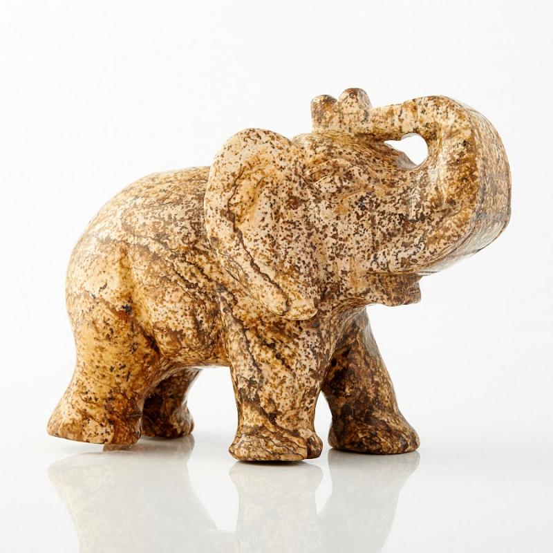 Слон яшма рисунчатая  8 см