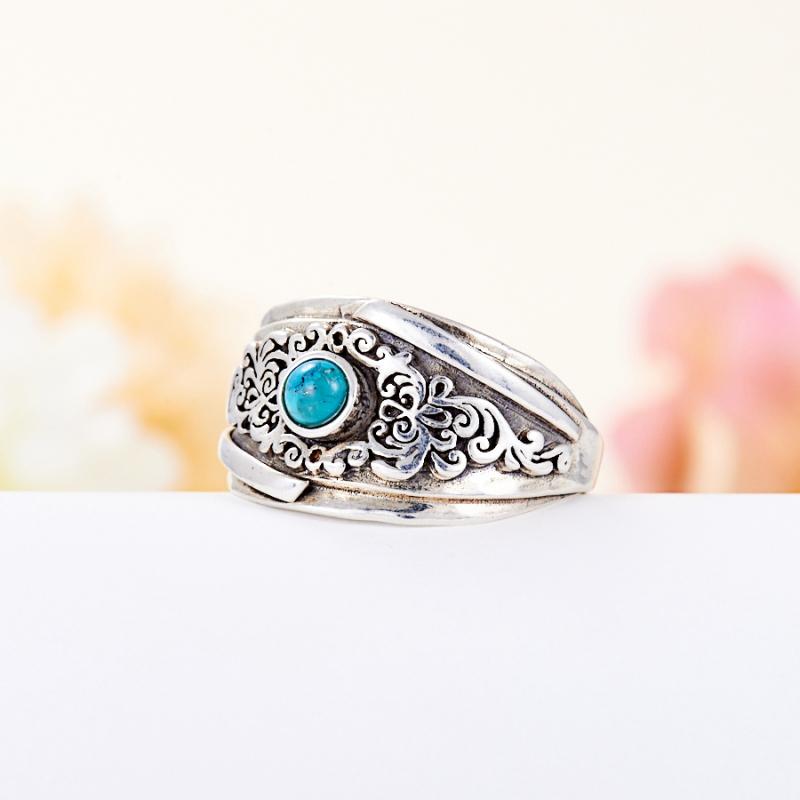Кольцо бирюза пресс Тибет (серебро 925 пр.) размер 14,5
