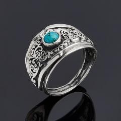 Кольцо бирюза пресс Тибет (серебро 925 пр.) размер 16,5