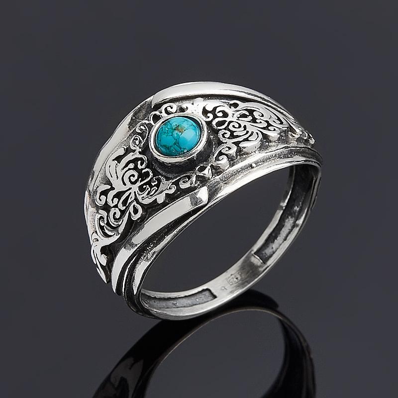 Кольцо бирюза пресс (серебро 925 пр.) размер 19