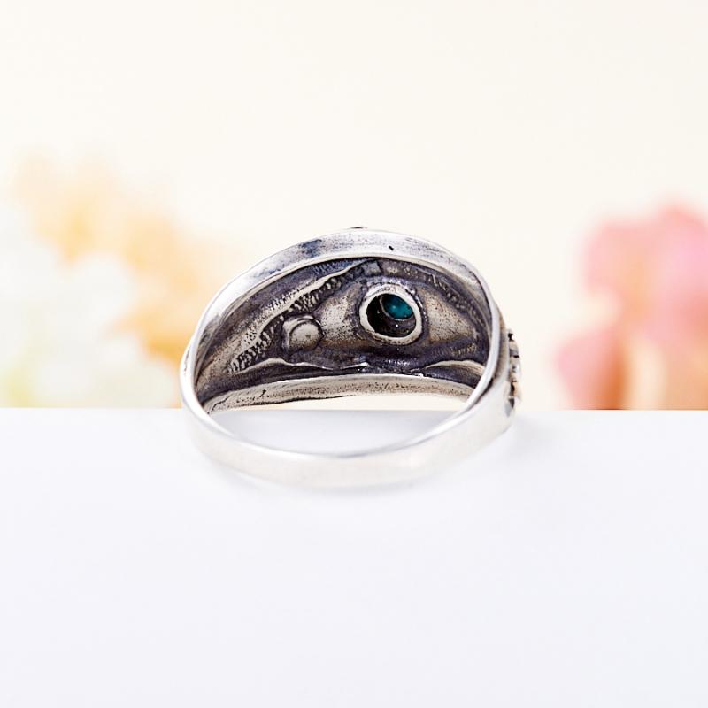Кольцо бирюза пресс Тибет (серебро 925 пр.) размер 22