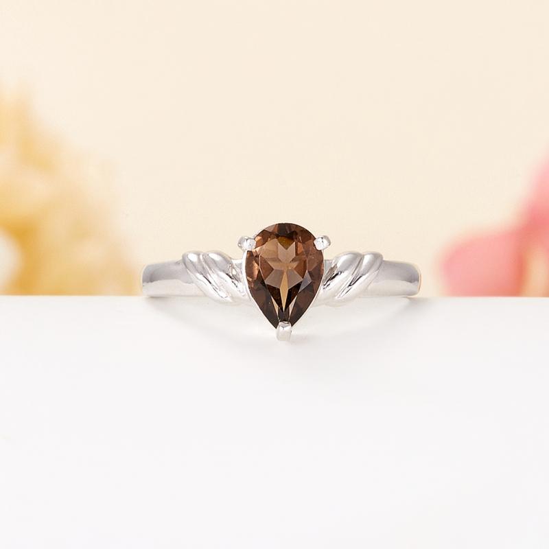 Кольцо раухтопаз  огранка (серебро 925 пр.) размер 16,5