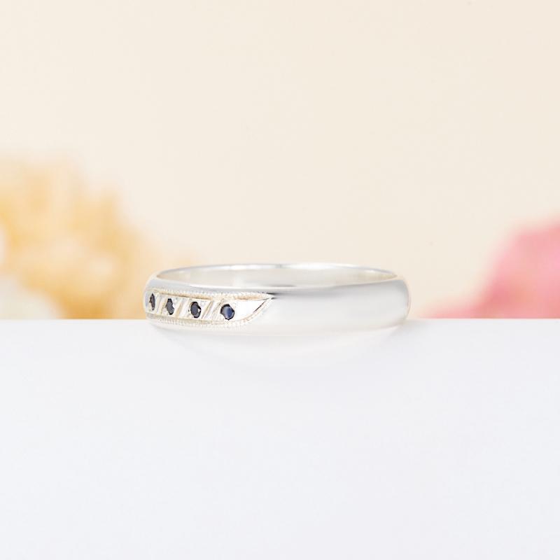 Кольцо бриллиант Россия огранка (обручальное) (серебро 925 пр.) размер 18,5