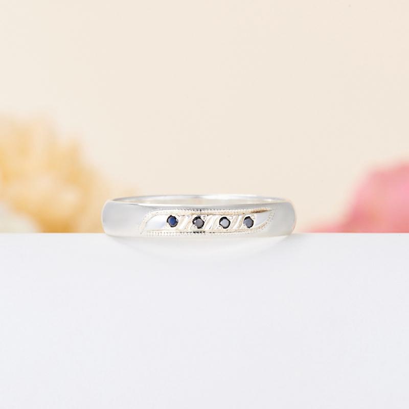 Кольцо бриллиант Россия огранка (обручальное) (серебро 925 пр.) размер 24