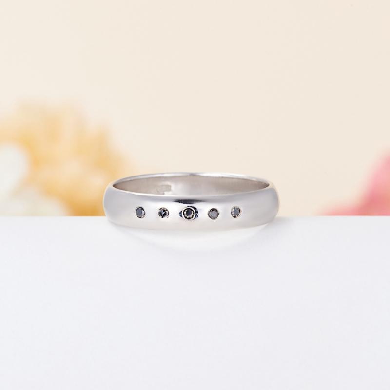 Кольцо бриллиант  огранка (обручальное) (серебро 925 пр.) размер 17,5