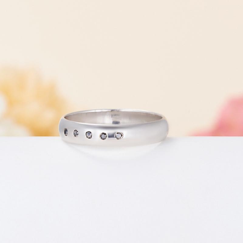 Кольцо бриллиант Россия огранка (обручальное) (серебро 925 пр.) размер 24,5