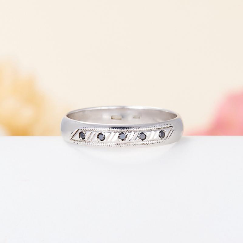 Кольцо бриллиант Россия огранка (обручальное) (серебро 925 пр.) размер 17
