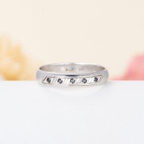 Кольцо бриллиант Россия огранка (обручальное) (серебро 925 пр.) размер 18