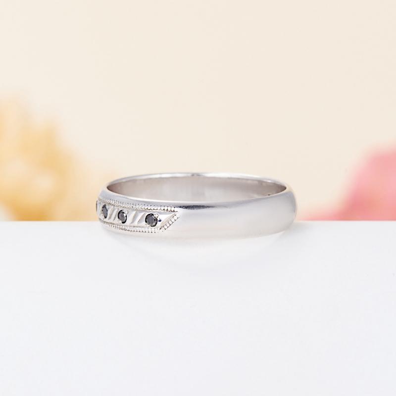 Кольцо бриллиант Россия огранка (обручальное) (серебро 925 пр.) размер 23,5