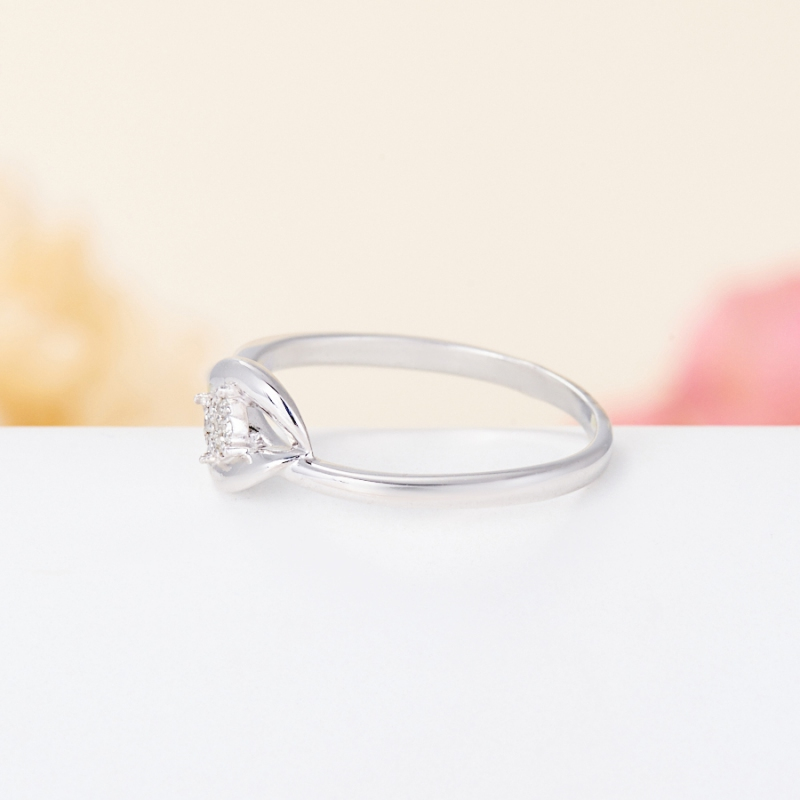 Кольцо бриллиант Россия огранка (серебро 925 пр.) размер 23,5
