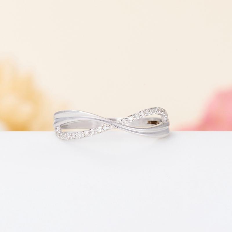 Кольцо бриллиант  огранка (серебро 925 пр.) размер 17,5