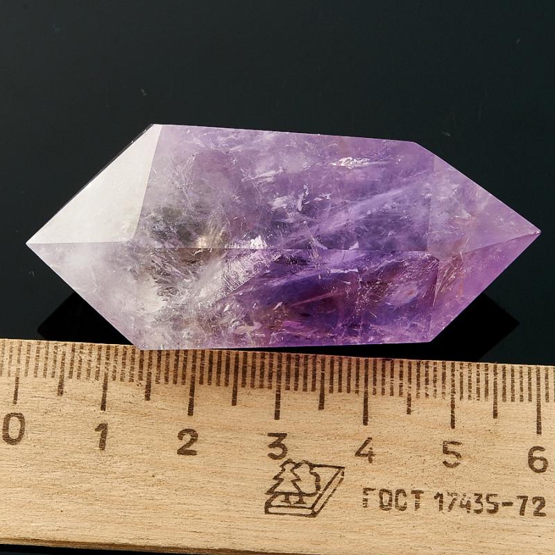 Двухголовый кристалл аметиста (5-6 см) Бразилия (ограненный)