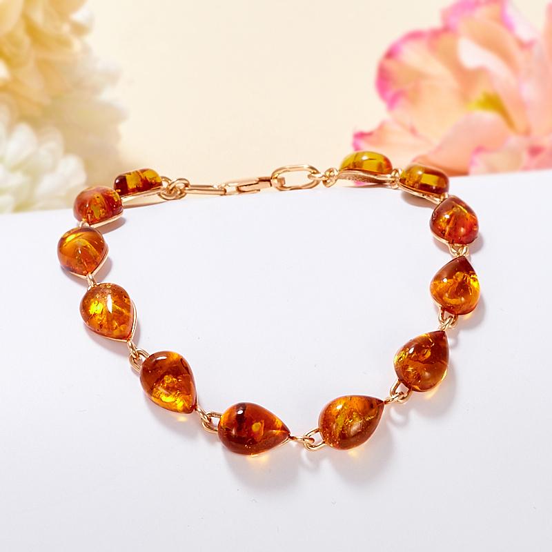 Купить браслет из янтаря с позолотой
