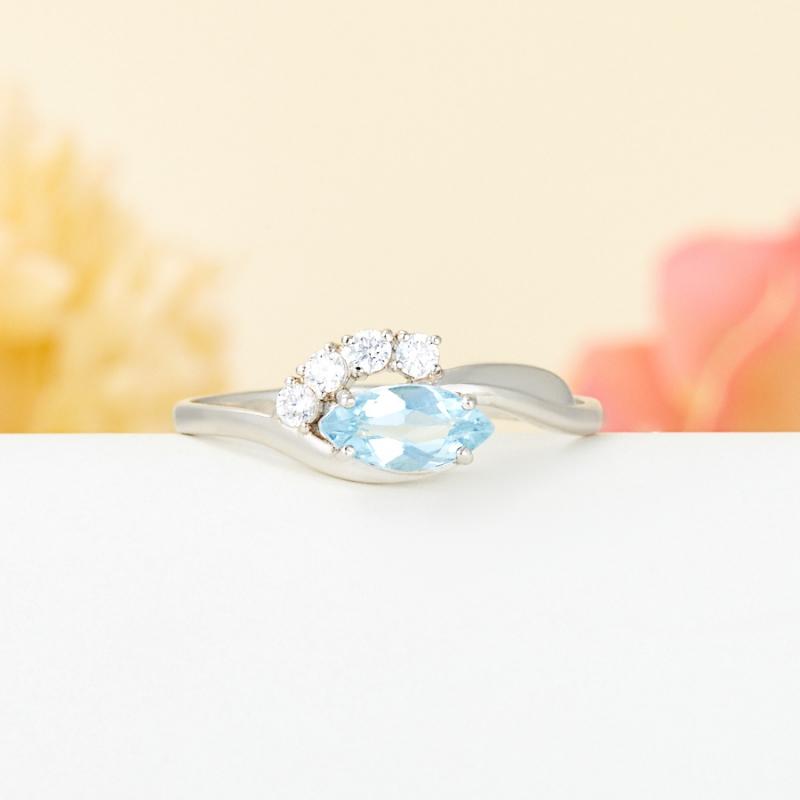 Кольцо топаз голубой огранка (серебро 925 пр.) размер 19 кольцо коюз топаз кольцо т102017974 лл