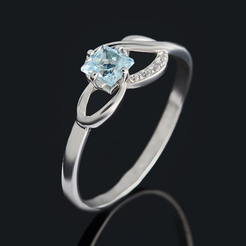 Кольцо топаз голубой огранка (серебро 925 пр.) размер 18,5 цена