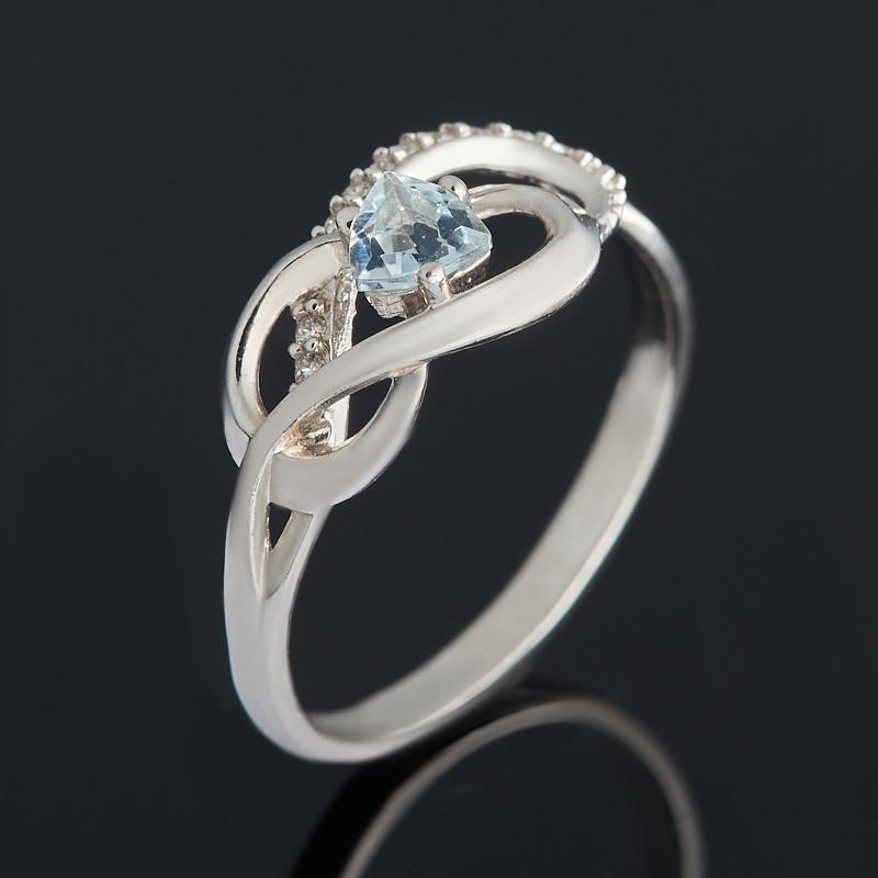 Кольцо топаз голубой огранка (серебро 925 пр.) размер 17 цены