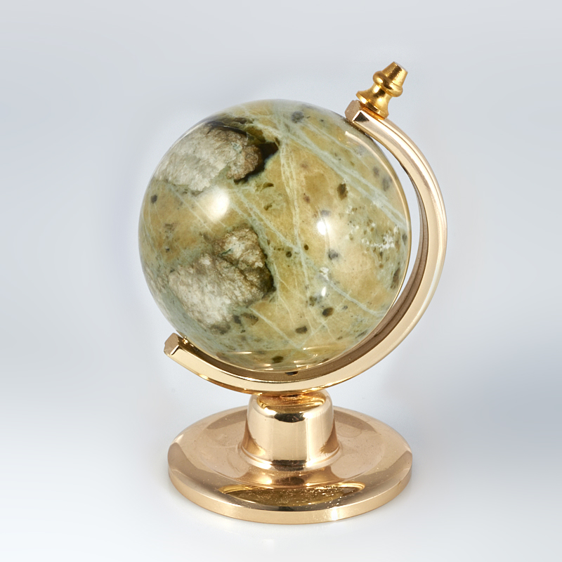 Предмет интерьера офиокальцит  глобус 5 см