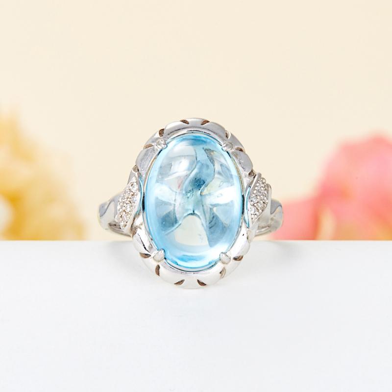 Кольцо топаз голубой (серебро 925 пр.) размер 17 кольцо коюз топаз кольцо т301017202