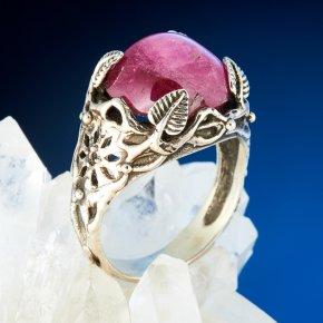 Кольцо турмалин розовый (рубеллит) Россия (серебро 925 пр.) размер 18,5