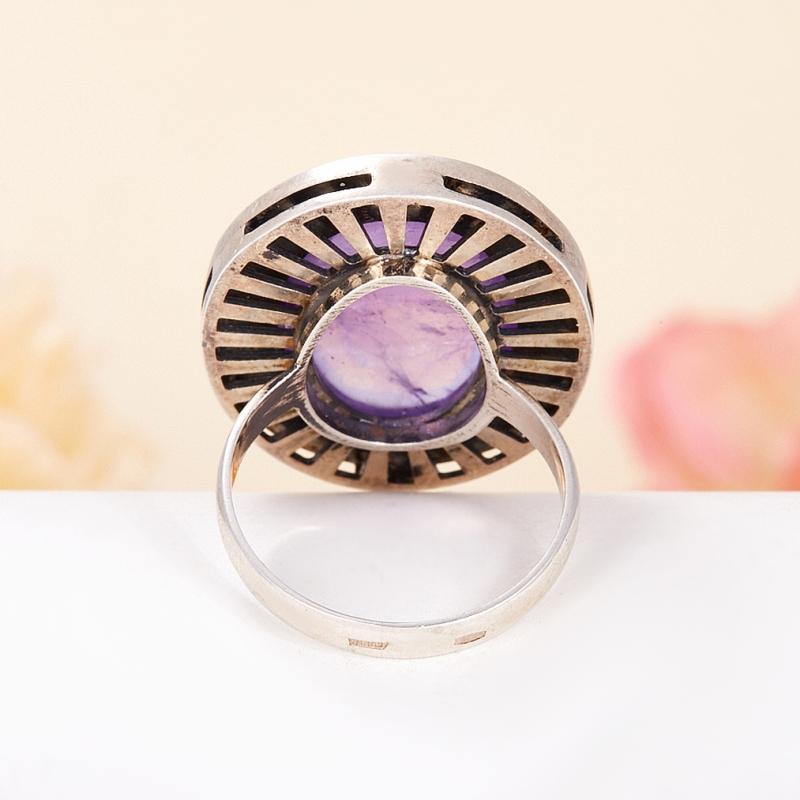 [del] Кольцо аметист Бразилия (серебро 925 пр.) размер 20