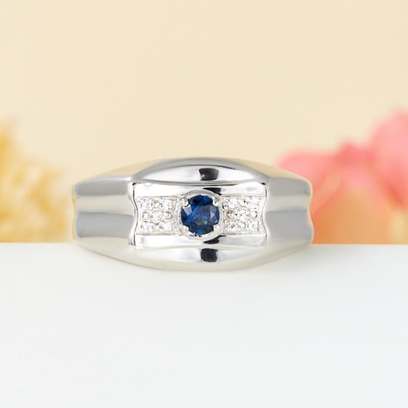 Кольцо сапфир  огранка (серебро 925 пр.) размер 22 кольцо кахолонг серебро 925 пр размер 22