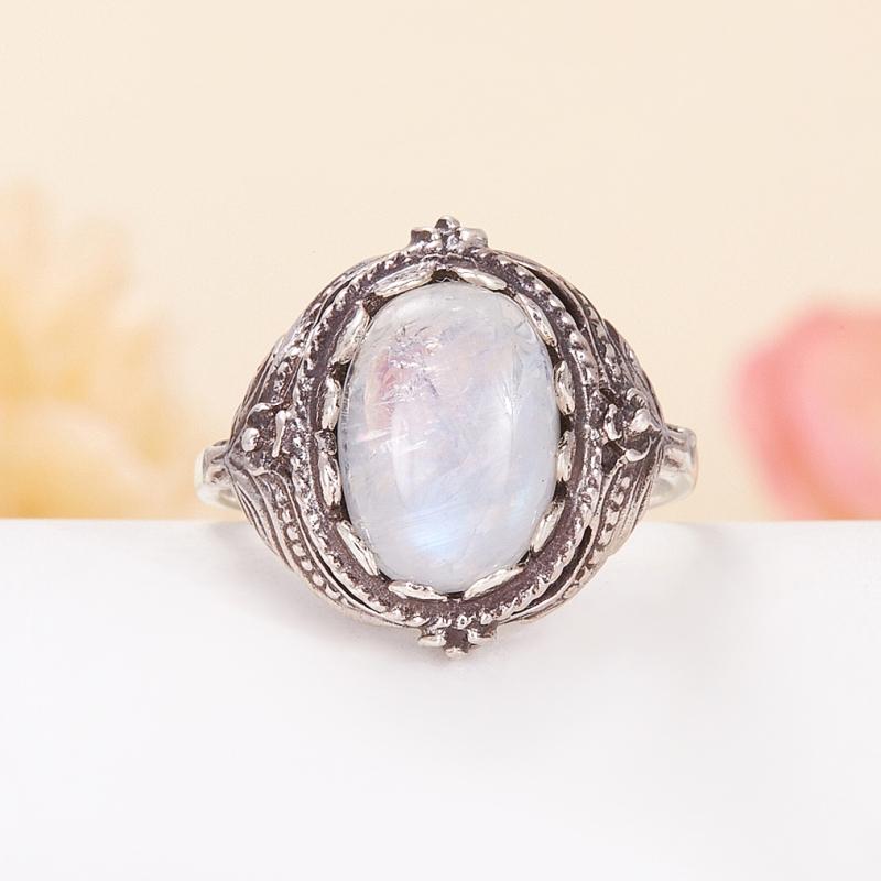 Кольцо лунный камень  (серебро 925 пр.) размер 19