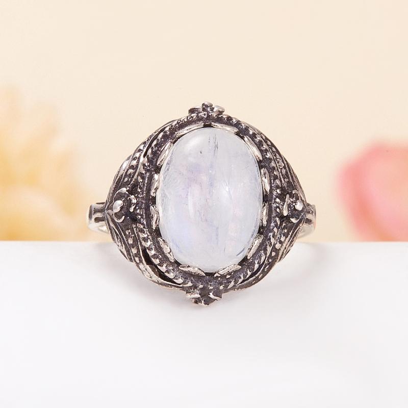 Кольцо лунный камень  (серебро 925 пр.) размер 18,5