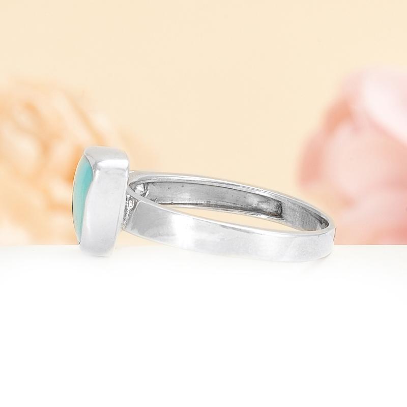 Кольцо бирюза США (серебро) размер 18