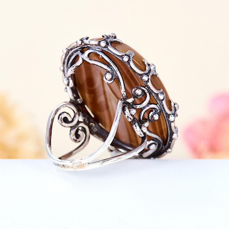 [del] Кольцо агат серый Ботсвана (серебро 925 пр.) размер 25