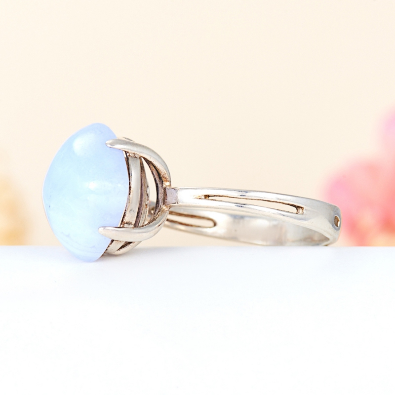 [del] Кольцо агат голубой Намибия (серебро 925 пр.) размер 14,5