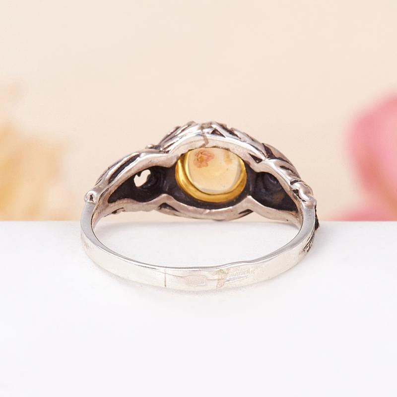 Кольцо цитрин  (серебро 925 пр.) размер 17,5