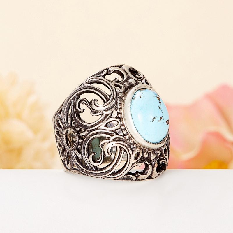 [del] Кольцо бирюза Казахстан (серебро 925 пр.) размер 15,5