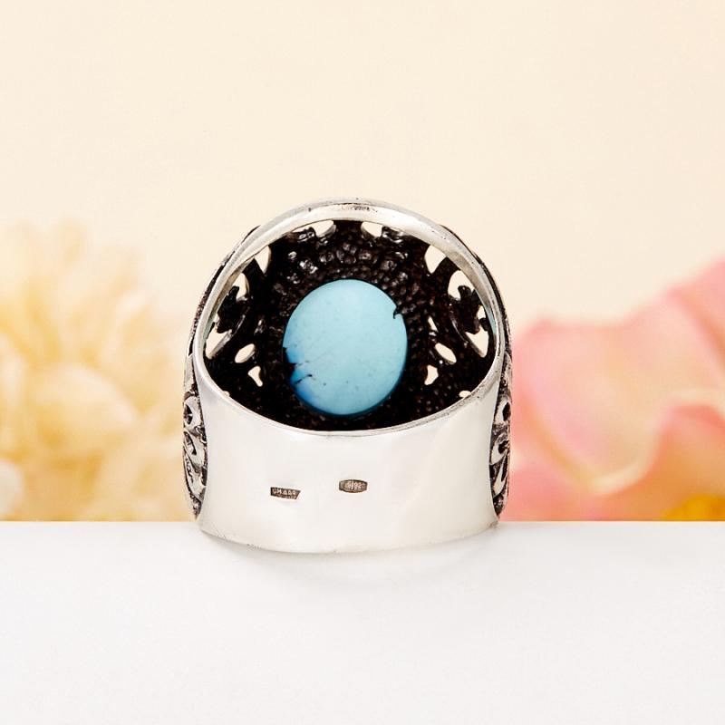 [del] Кольцо бирюза Казахстан (серебро 925 пр.) размер 17