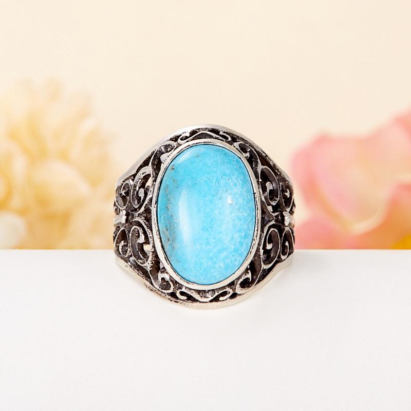 [del] Кольцо бирюза Тибет (серебро 925 пр.) размер 23